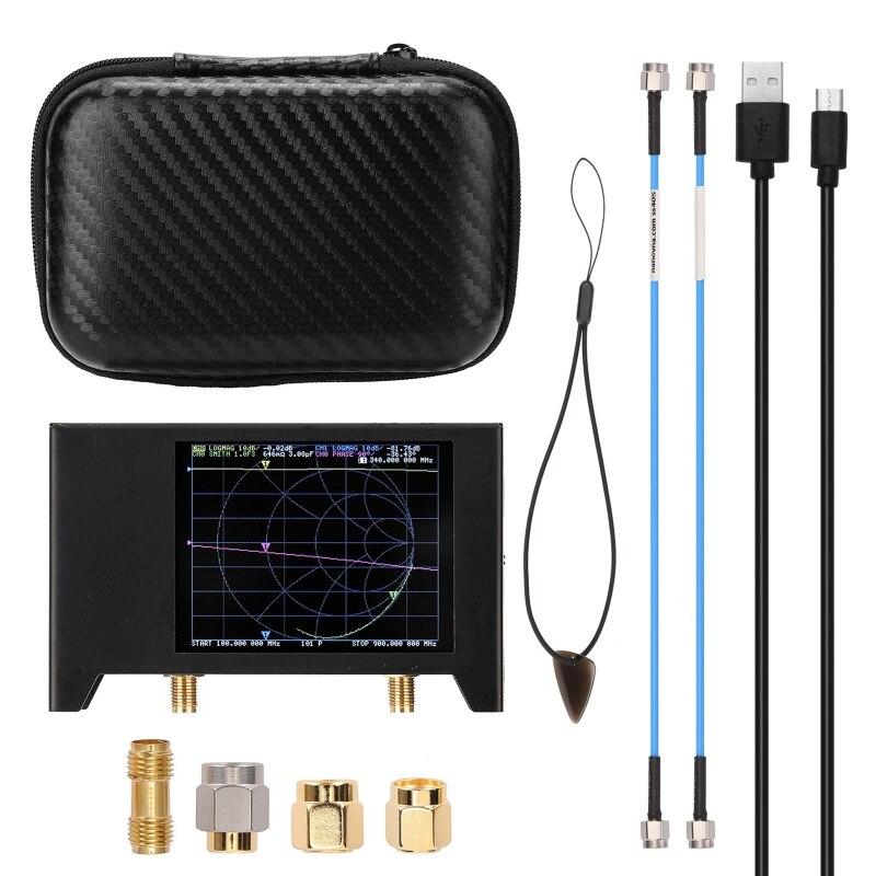 2.8 بوصة TFT LCD شاشة تعمل باللمس الجيل الثالث 3G محلل مكافحة ناقلات شبكة الإنترنت S-A-A-2 NanoVNA V2 هوائي على المدى القصير محلل HF VHF UHF