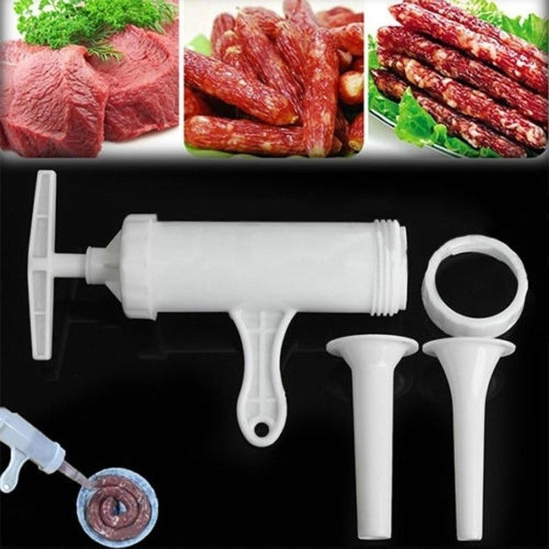 Manual Sausage Machine Meat Stuffer Filler Salami Maker Stuffers