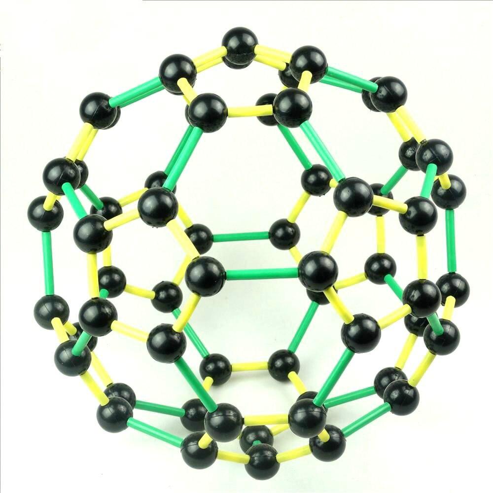 Atome de carbone modèle carbone-60 Structure moléculaire modèle C60 Fullerene football ENE biologie appareil expérimental