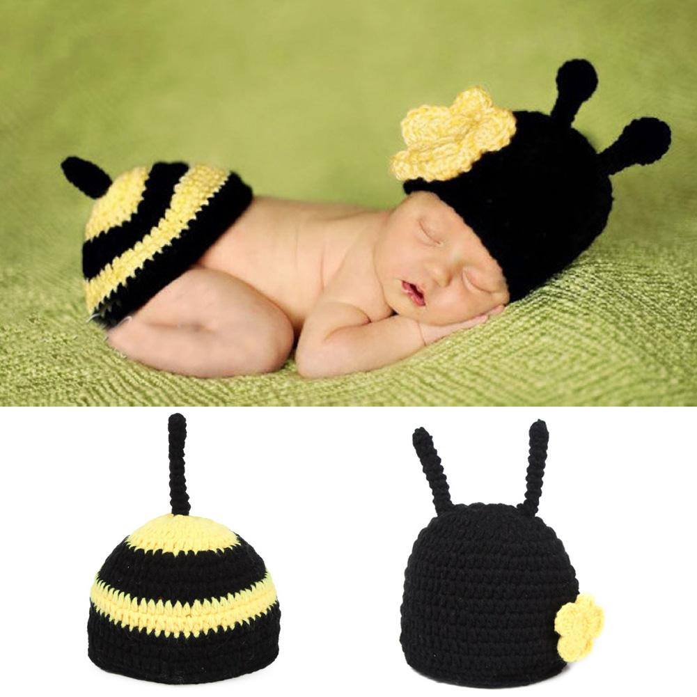2pc Newborn Baby Photography Props Handmade Crochet Knitted Baby Clothes Set Animal Soft Infant Beanie Caps Photo Props Clothing недорого