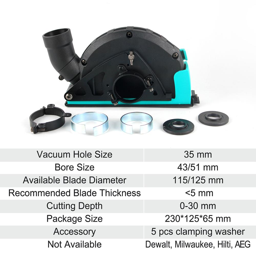 Raizi Cutting Dust Shroud For Angle Grinder 4.5, 5 Inch Diamond Saw Blade Dust Collector Attachment Cover Tool enlarge