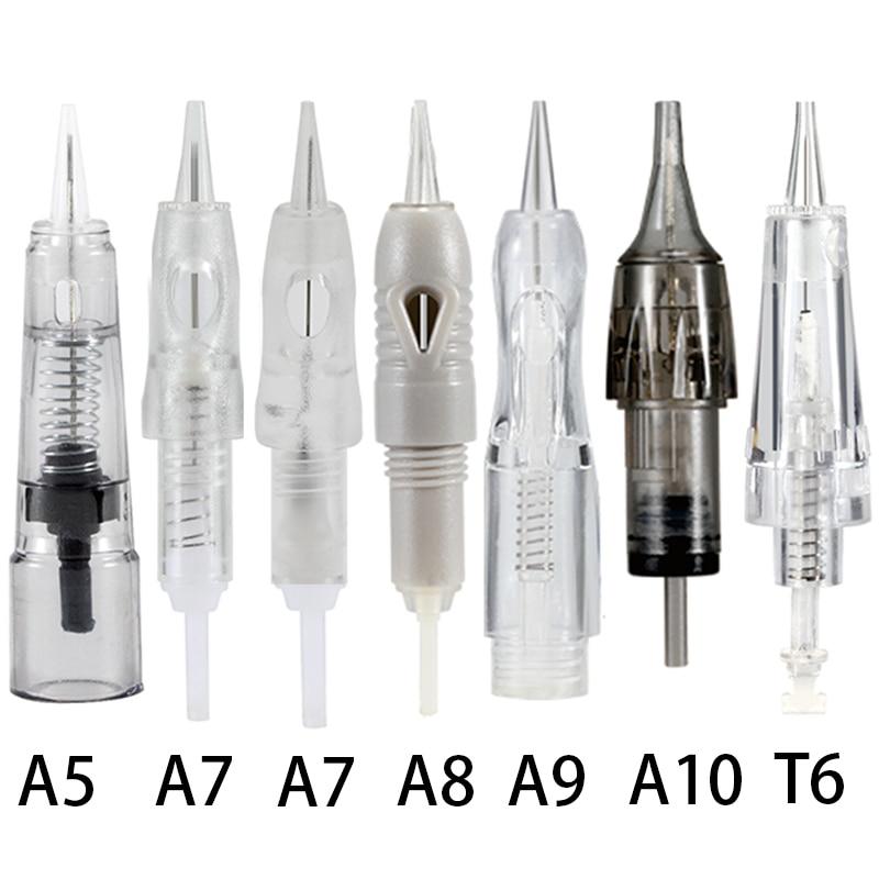 30pcs Tattoo Needle Cartidges Permanent Makeup Machine Professional Needles Kit Microblading Eyebrow Eyeliner Lip Safety Needles