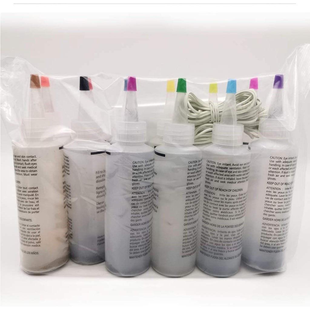 8 garrafas kit muti-color corantes tinta permanente tie dye kit permanente um passo tie dye conjunto para diy artes roupas tecido gota # y20