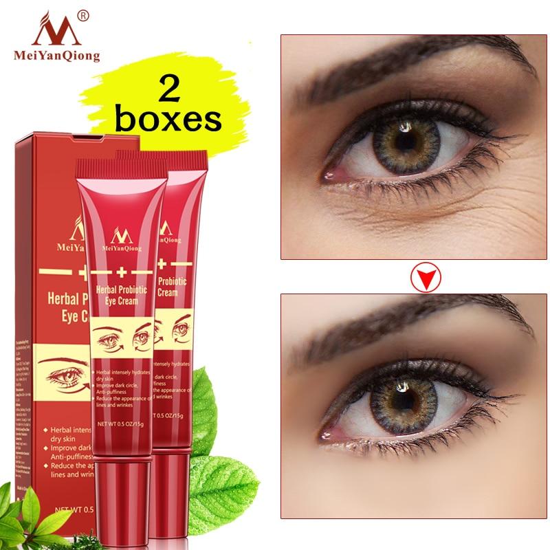 2PCS Hyaluronic Acid Eye Cream Anti-Wrinkle Remover Dark Circles Eye Essence Against Puffiness Anti Aging Probiotic Remove dark