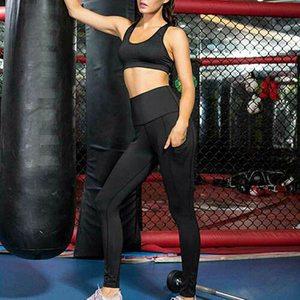 Однотонные спортивные штаны для йоги с карманами, сетчатые спортивные Леггинсы с высокой талией, женские леггинсы для фитнеса и йоги, тренировочные штаны для бега, спортивная одежда 2021