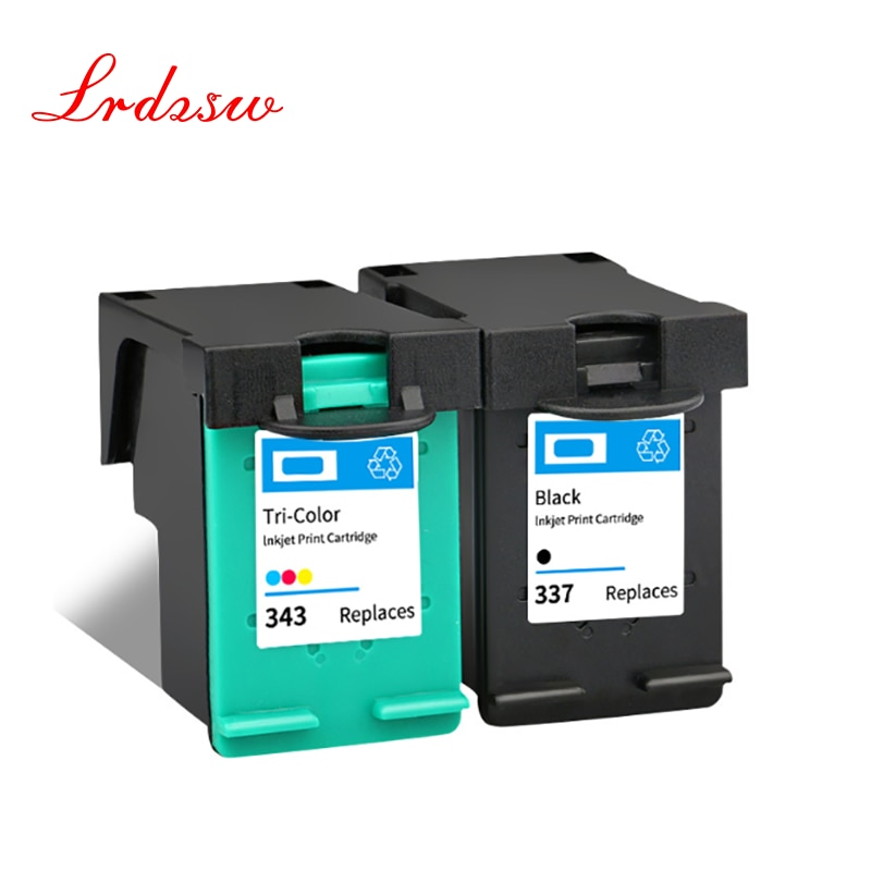 343 337 Remanufactured Ink Cartridge Replacement for HP 337 343 for HP Photosmart 2575 8050 C4180 D5160 Deskjet 6940 D4160