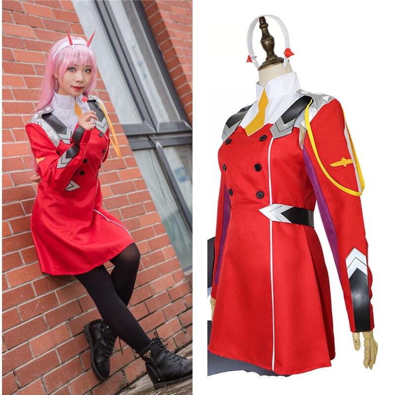 Traje de Anime japonés Zero Two Cosplay leotardo femenino juego Anime Darling In The Franxx 02 Zero Two Cosplay traje de látex
