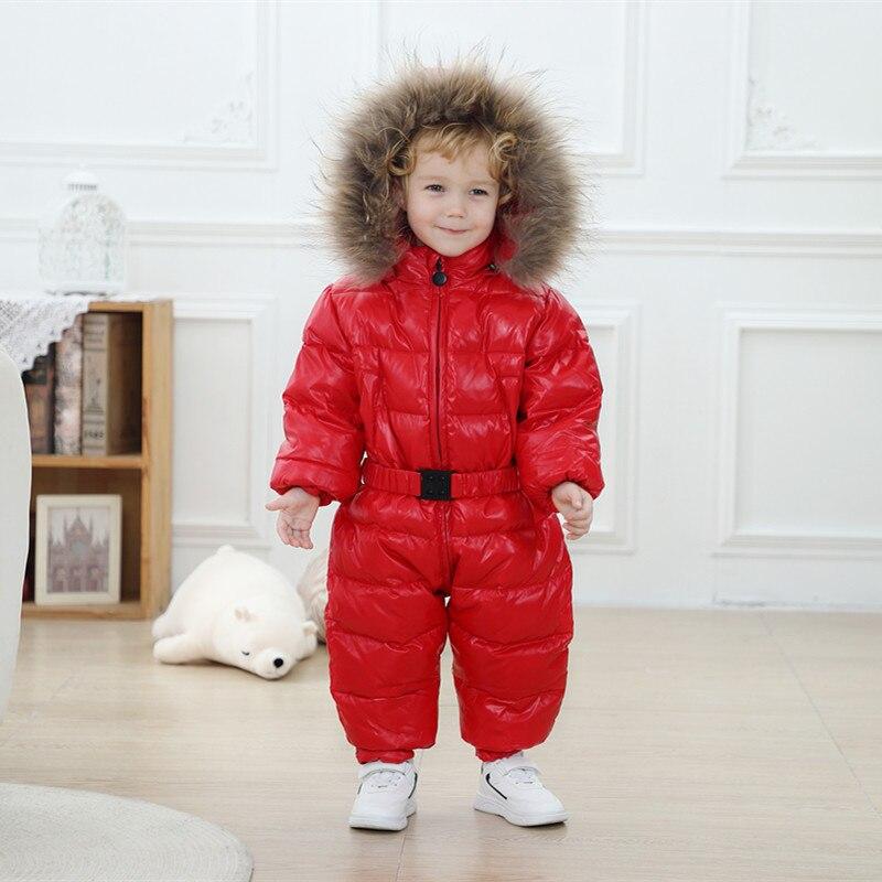 2021-children-winter-duck-down-jumpsuit-real-fur-baby-warm-snowsuit-boys-girls-snow-wear-rompers-newborn-thick-overalls-coats