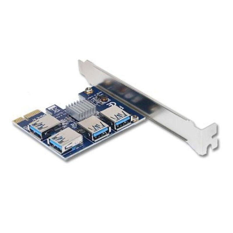2021 جديد PCIE Riser 1x إلى 4x الرسم تمديد الناهض محول بطاقة USB 3.0 16X فتحات بطاقة مضاعف للتعدين تعدين البيتكوين