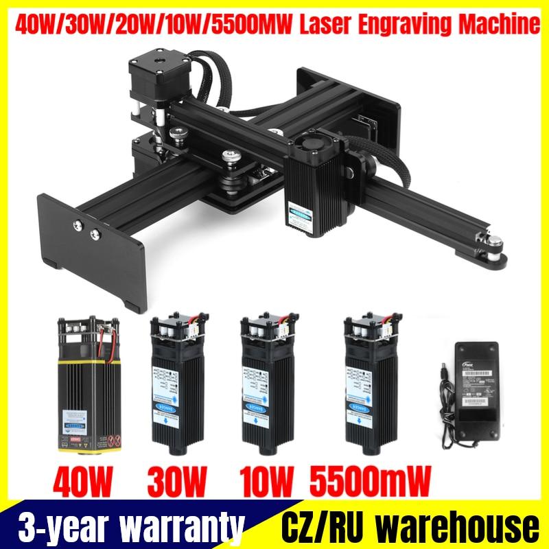 Máquina de Gravação a Laser Gravador a Laser Logotipo do Laser 5500mw Mini Desktop Impressora Carver Portátil Faça Você Mesmo Marca 40w – 30w 20w 10w