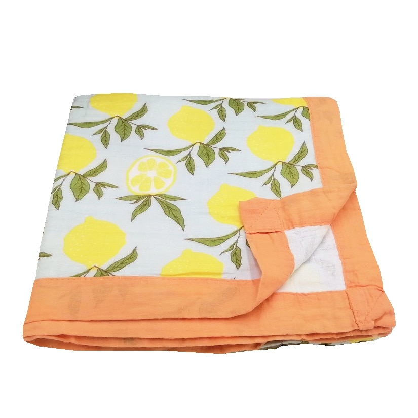 lemon Ins hot four layer bamboo cotton muslin baby blanket for newborn swaddle wrap swaddling bedding blankets