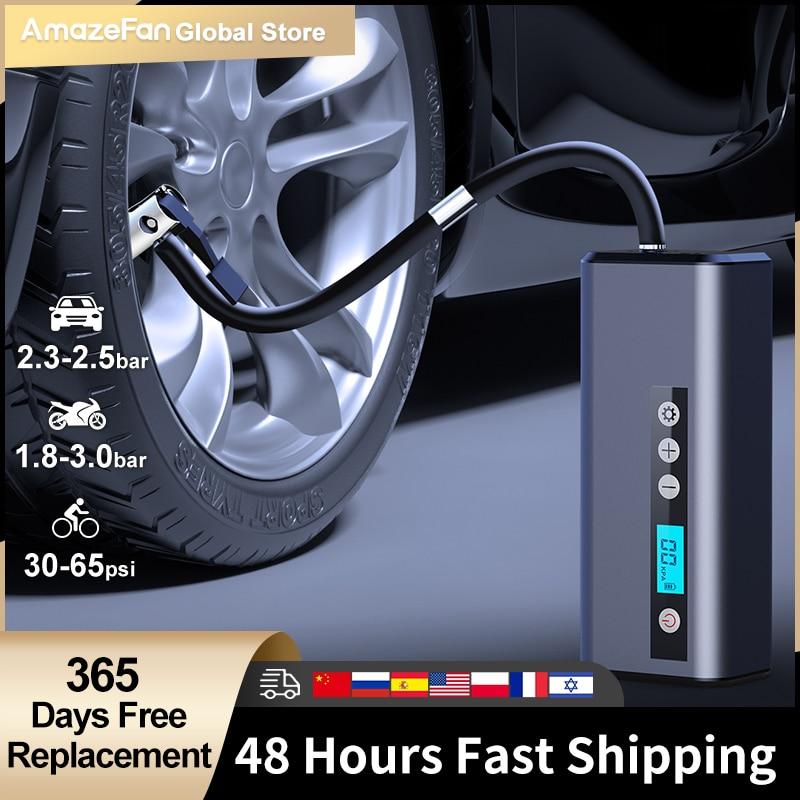 سيارة مضخة هواء كهربائية صغيرة محمولة لاسلكية الإطارات نفخ مضخة نافخة و قوة البنك ضاغط الهواء دراجة الكرة دراجة نارية
