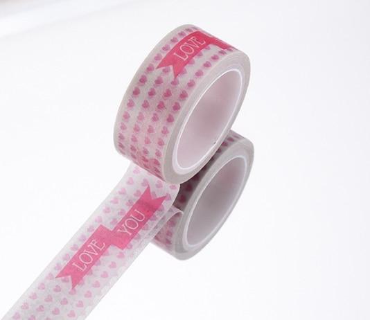 Love word adhesive washi tape(1piece)