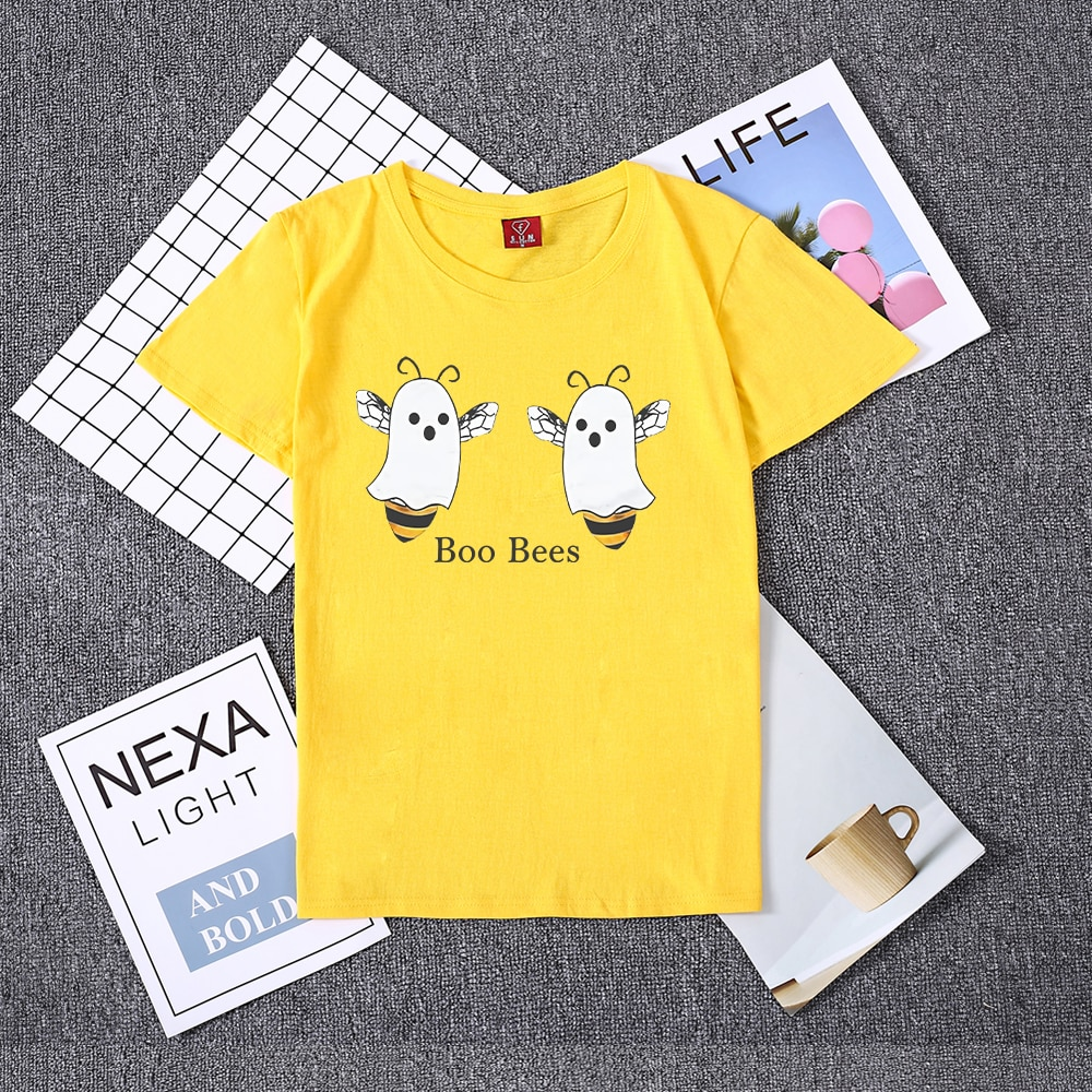Hillbilly Boo Bees pareja camiseta moda encantadora divertida camiseta manga corta cuello redondo mujeres Halloween Eve tapas Halloween regalo