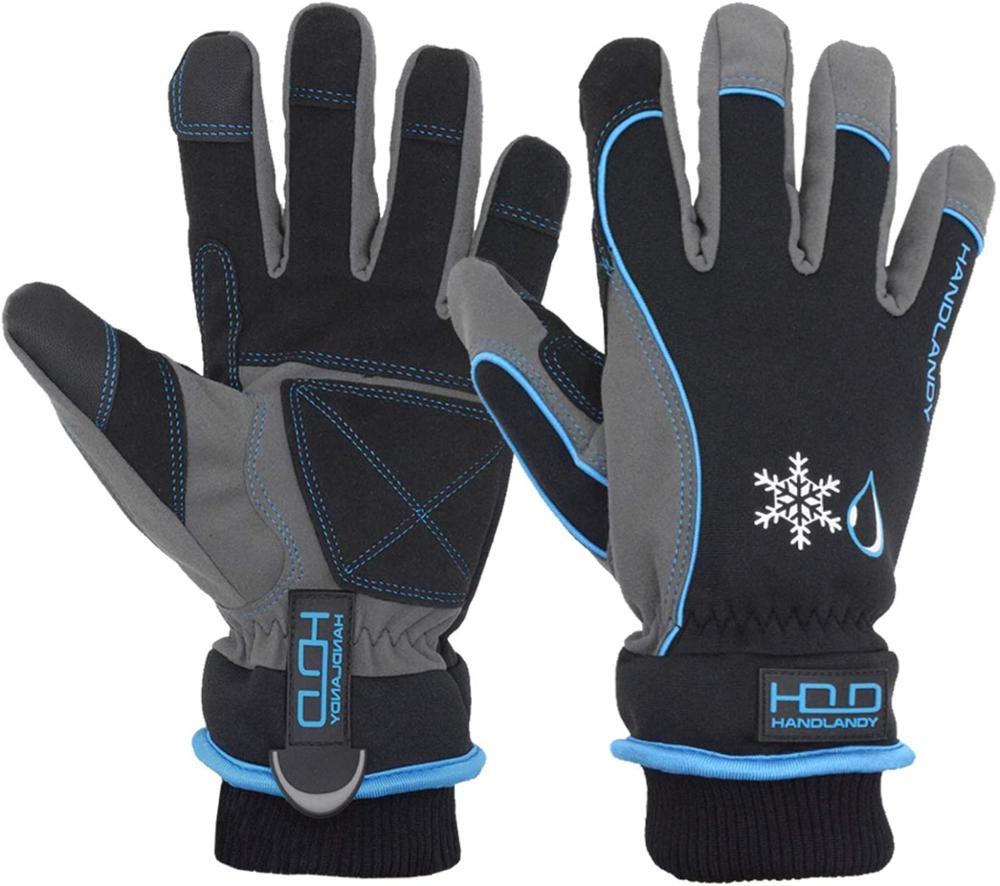 Зимние теплые кожаные лыжные перчатки из козьей кожи, зимние перчатки для сенсорного экрана, зимние