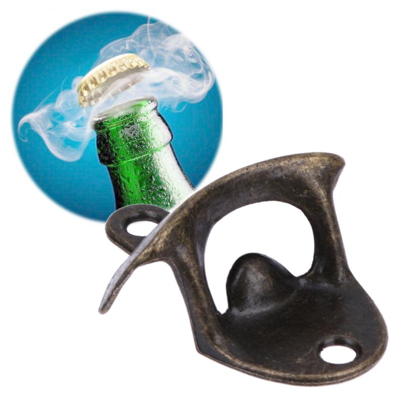 Botella De abridores De cervezas De Metal De bronce montado en la...
