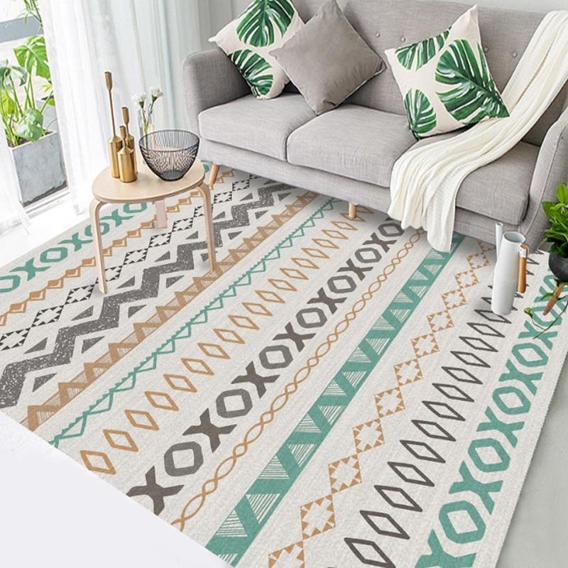 مجردة السجاد لغرفة المعيشة الفاخرة المغرب السجاد غرفة نوم بساط الأرضية الشمال هندسية حصيرة ديكور المنزل الأطفال نوم السجاد