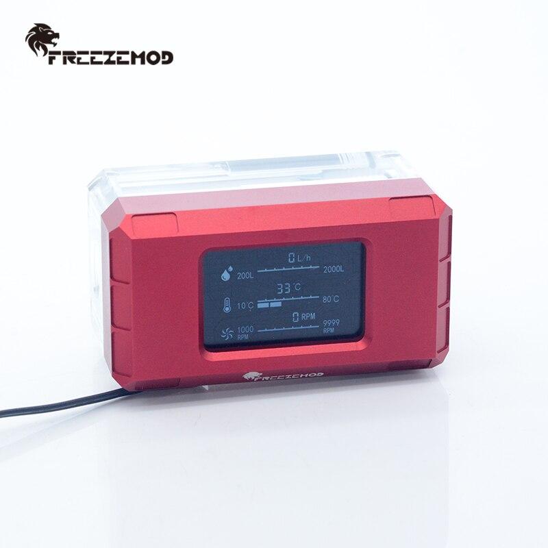 FREEZEMOD PC المياه برودة 2021 جديد ذكي الكمبيوتر تدفق سرعة LCD درجة الحرارة كشف المياه برودة تدفق متر LSJ-ZN