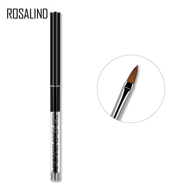 ROSALIND Nail Brush Nail Art Manicure Brushes Set Line Flower Pen Dotting Painting Design Acrylic Nail Gel Brush for Manicure