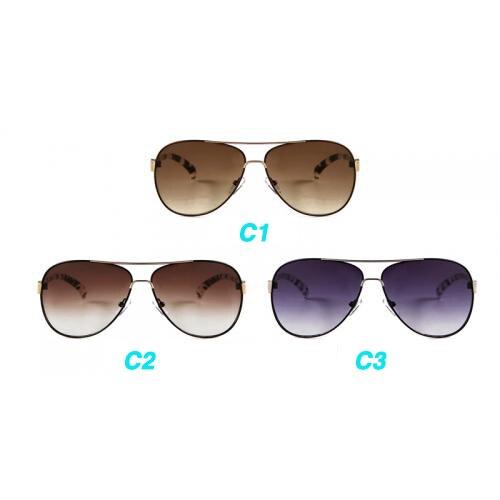 Ladies Cat Eye Sunglasses Double Nose Big Frame Pilot Style Sun Glasses Korean Stripe Design Female Shade  H36