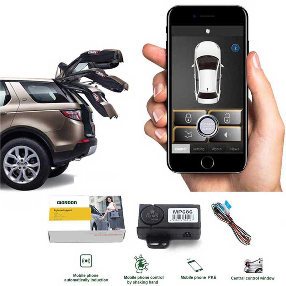 PKE Car Alarm System MP686 Smart Key Keyless Entry Car Door Lock Automatic Trunk Opening Sensor Auto