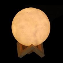 Createbot 3D Print Moon Lamp LED Night Light 16 Rechargeable Color Change 3D  Touch Moon  Children's