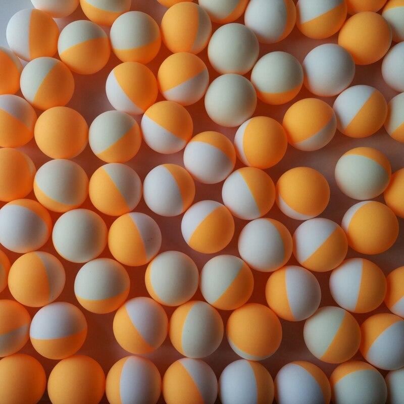 100 штук упак. 3 звезды Профессиональный мяч для настольного тенниса Белый Оранжевый двойной цвет 40 + новый материал тренировочный мяч для пинг понга пакет