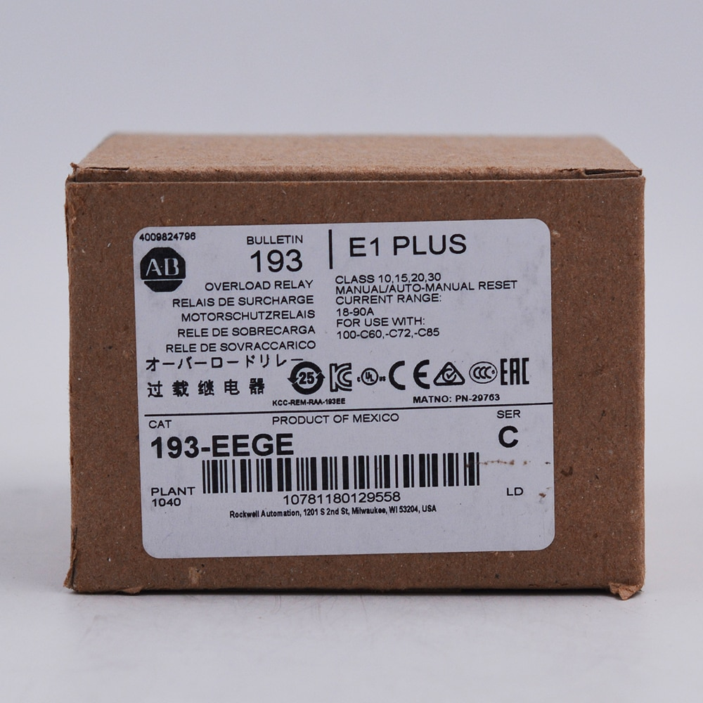 Allen Bradley E1 Plus Solid State Overload Relay 193-EEGE  - buy with discount
