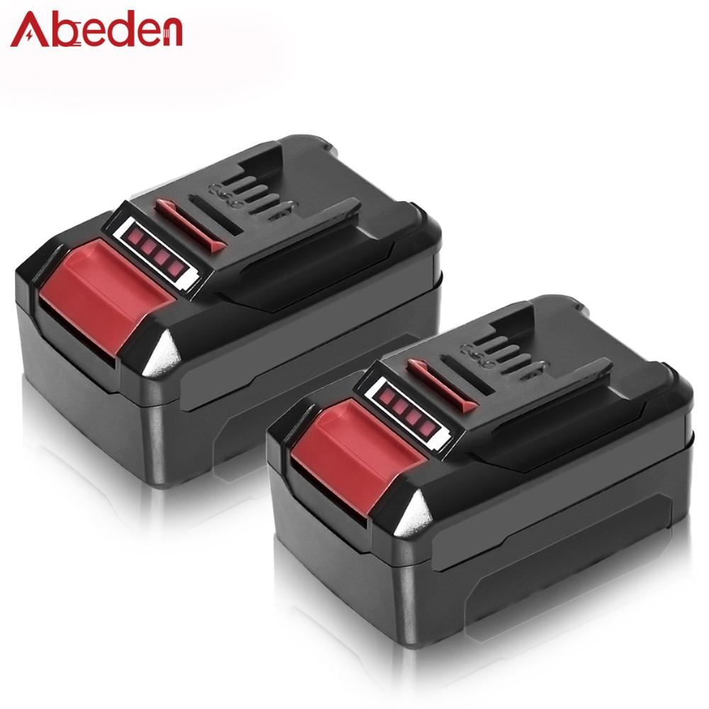 Abeden 2PCS Replacement 18V 3.0AH 4.0 AH 5.0 AH 6.0 AH Li-ion power tool battery For Ein 18V 6000mAH PXBP600 PXBP300 Battery