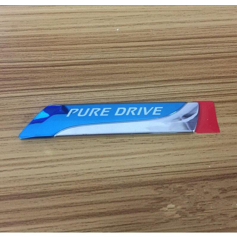 1 Uds para Nissan Qashqai X-trail Juke Tenna Tiida soleado coche estilo PURE DRIVE distintivo XTRONIC CVT 3D coche emblema insignia
