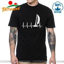 Tatooine Sailing T Shirt SAILING IN A HEARTBEAT T-Shirts Summer Graphic Tee Shirt Sailor Cotton Short Sleeve 4xl 5xl Mens Tshirt