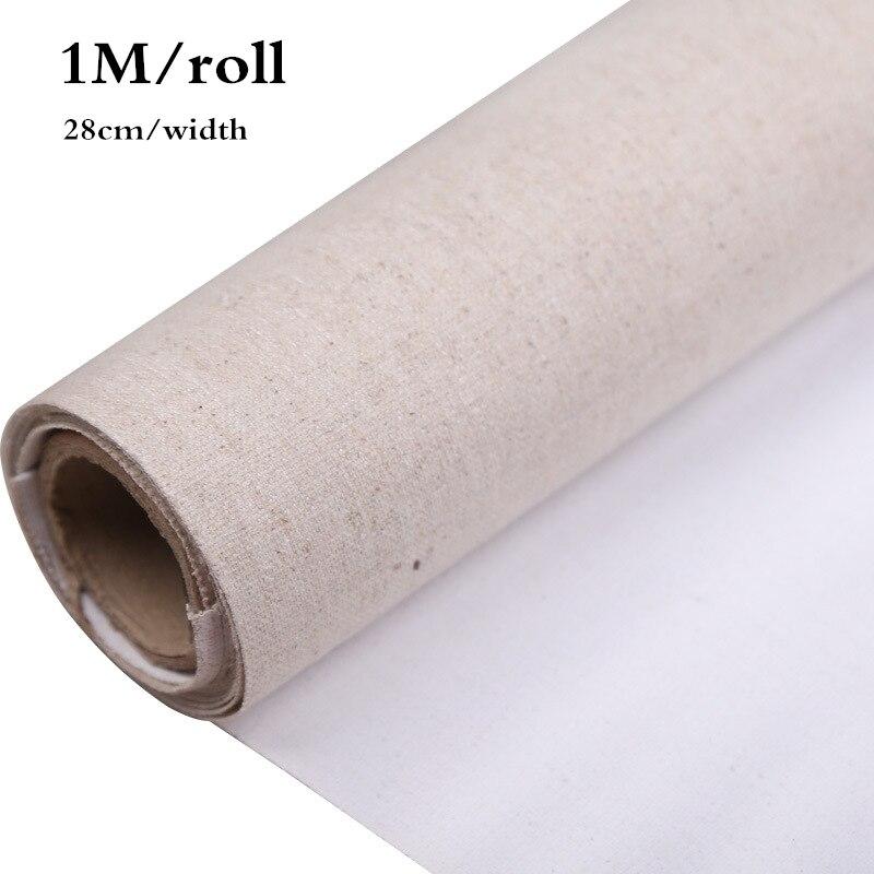 28cm largura/rolo profissional em branco lona para pintura a óleo da camada acrílico lona linho mistura preparado suprimentos para o artista