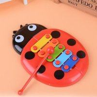 Insect Hand Knock Piano Educational Toys Hand Harp Boy Girl Musical Baby Toy 8-Note Xylophone for 0-3 Years Old Children Toddler