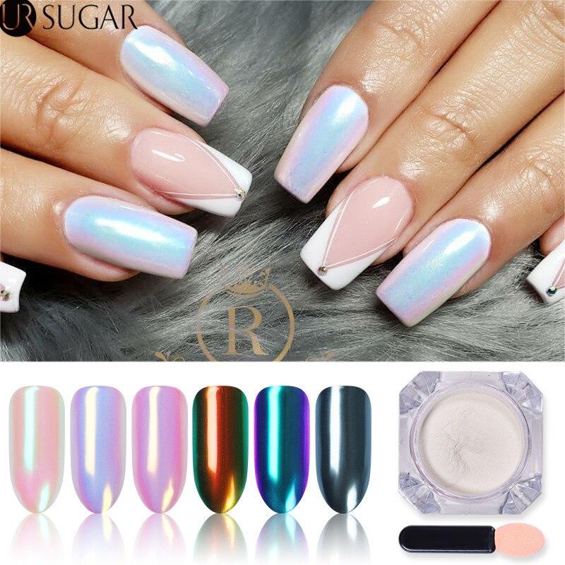 Perle ongles paillettes poudre miroir poudre miroitant Chrome Pigment poussière poudre ongles paillettes bricolage Art des ongles décorations