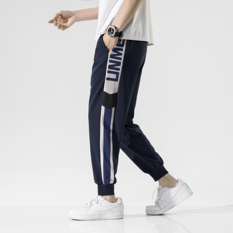 Jogginghose Männer Frühling Casual Hosen 2021 Neue Mode Kontrast Hose Lose Im Freien Jogger Sport Hosen Herren Streetwear 3XL