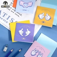 mr paper 4 designs 8 pcsset cartoon style square greeting card series cute greeting cards hand account diy gift material