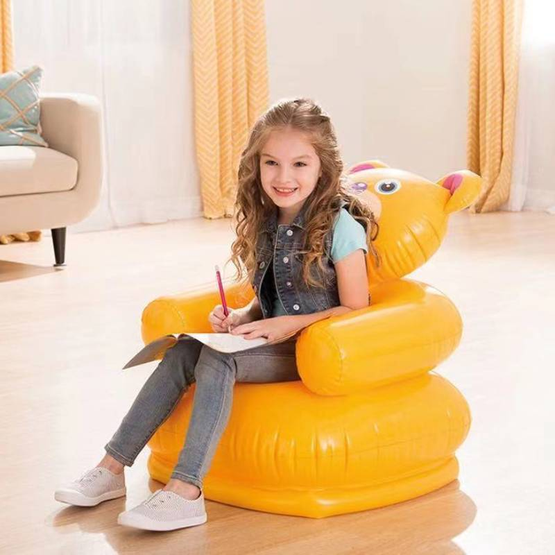 Air Inflatable Dining Sofa Children Cartoon Furniture диваны раскладные Seat Baby Portable Safety Backrest Seats Stool Kid Chair диваны