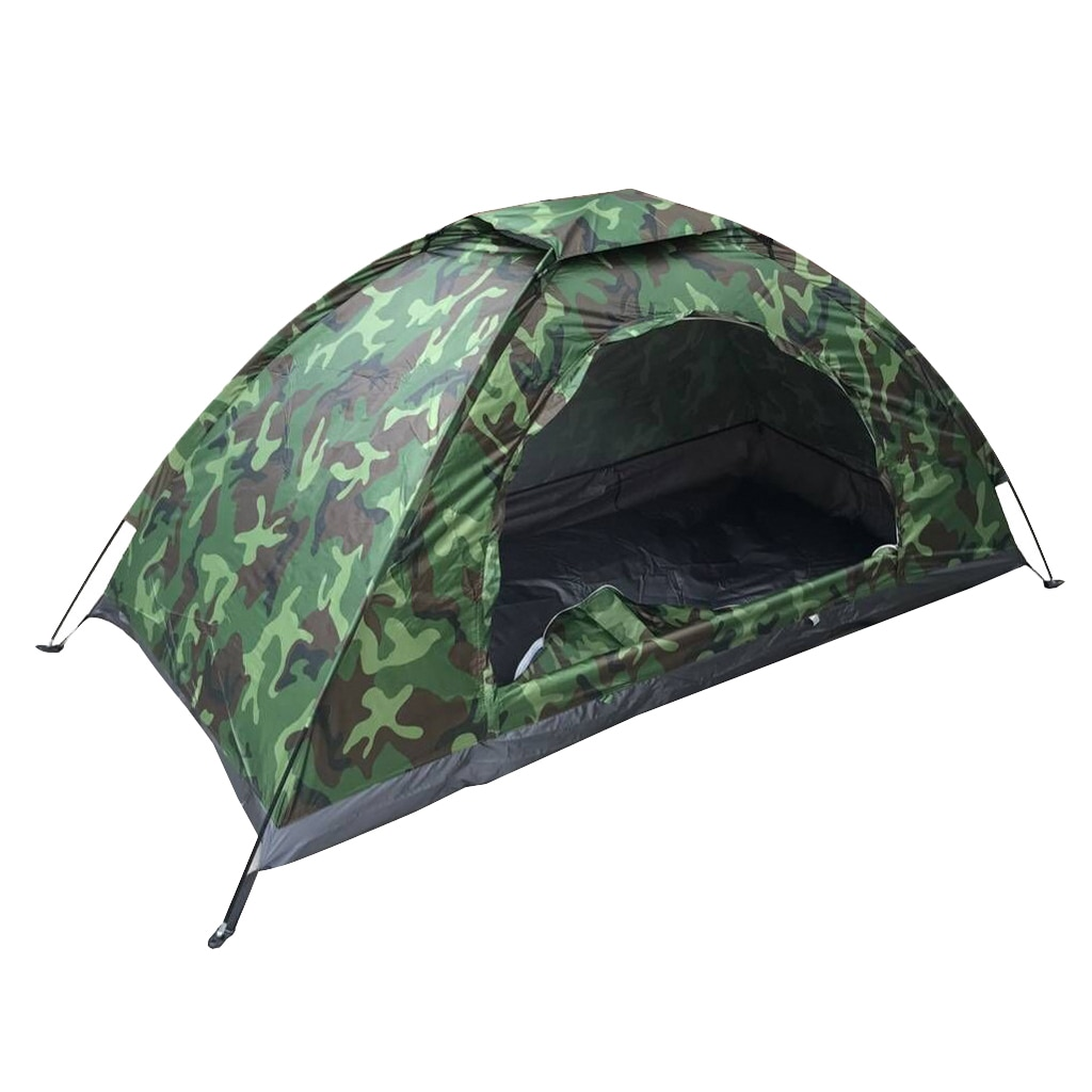 Outdoor Waterproof Camping Tent Single Camouflage Backpacking Windproof Tent
