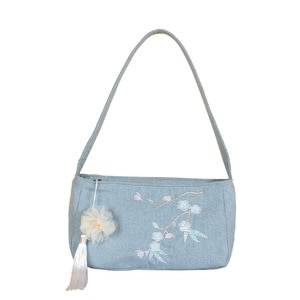 Women Cotton & Linen Embroidery Floral Hanbag Female Shoulder Bags Cloth Sack Ladies Pouch Bolsa Feminina Bolso Mujer for Girls