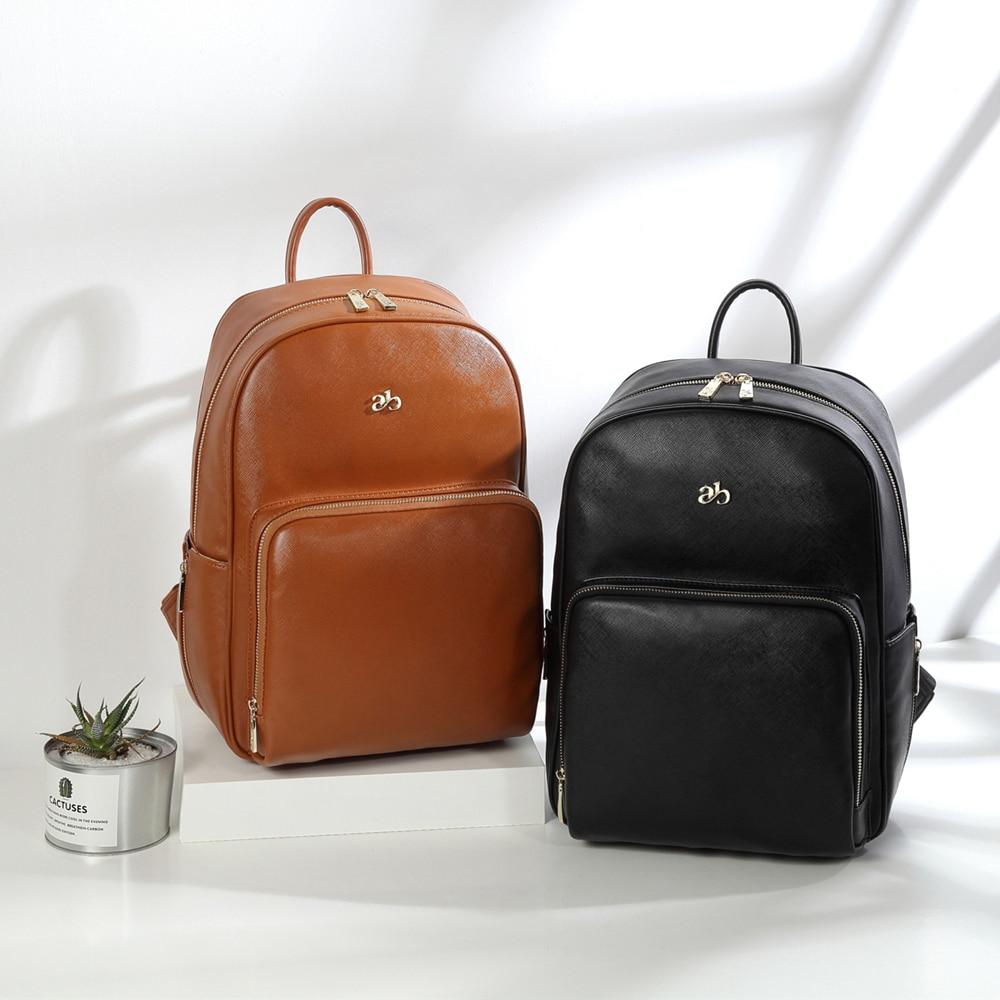 حقيبة حفاضات من جلد البولي يوريثان المقاوم للماء ، حقيبة ظهر قابلة للتحويل ، حقيبة سفر للأم
