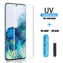 UV Tempered Glass For Samsung S21 Plus Ultra Screen Protector S10 Plus Film Case S8 S9 S20 Note 8 9