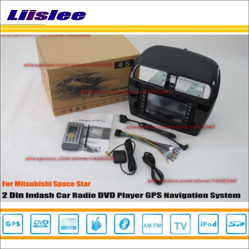 Liislee coche Radio CD reproductor DVD para Mitsubishi Space 2012 ~ 2014 GPS Navi navegación sistema doble Din Audio conjunto de instalación