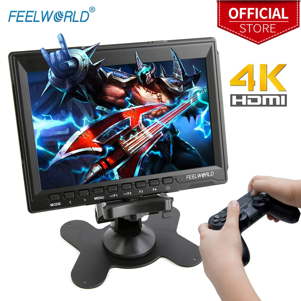 FEELWORLD-شاشة ألعاب محمولة LCD عالية الدقة مقاس 7 بوصات ، 4K ، HDMI ، IPS ، HD ، لأجهزة XBOX ONE و PS3 و PS4 و Switch والكمبيوتر المحمول