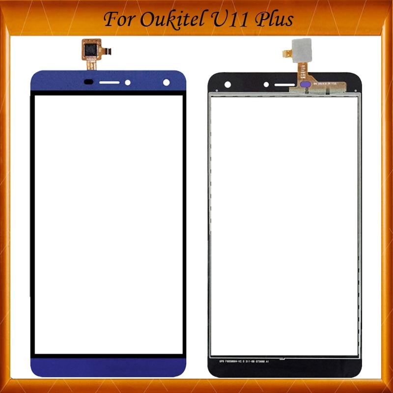 Para Oukitel U11 Plus pantalla táctil digitalizador Panel pantalla frontal cristal lente Sensor reemplazo para U11 Plus pantalla táctil