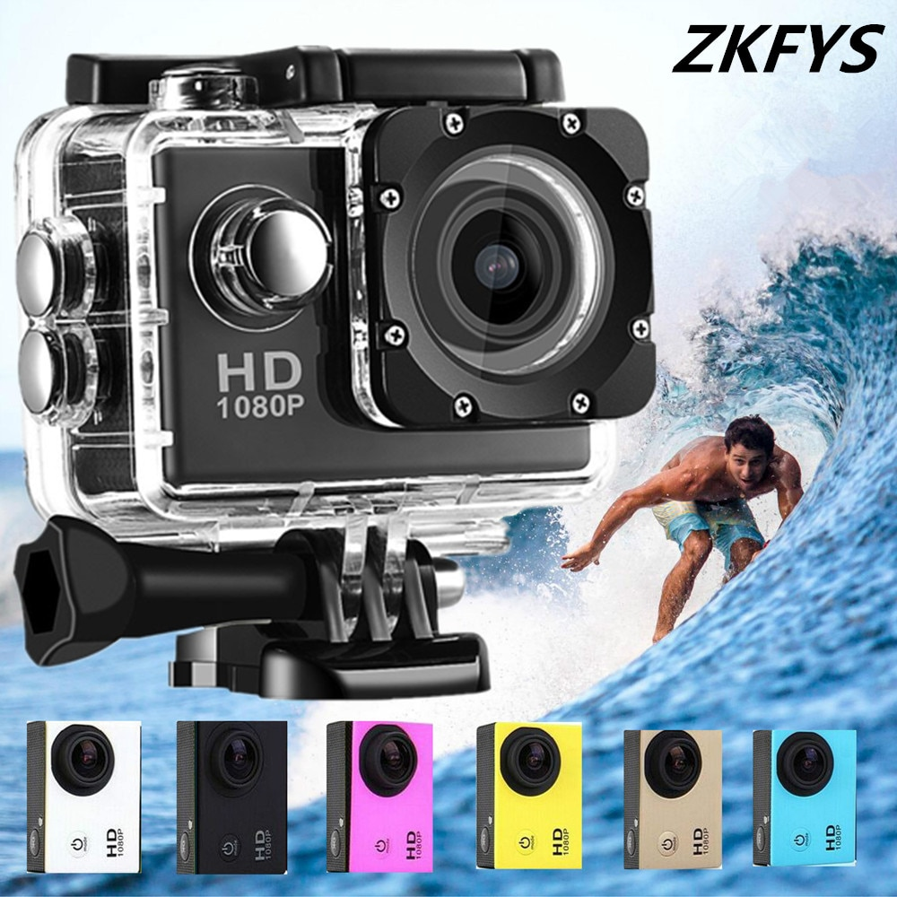 Motorcycle Dash Sports Action Vedio Camera 1080P/60fps 2.0 LCD 170D Lens Full HD 30m Waterproof pro Sports Camera Helmet Cam
