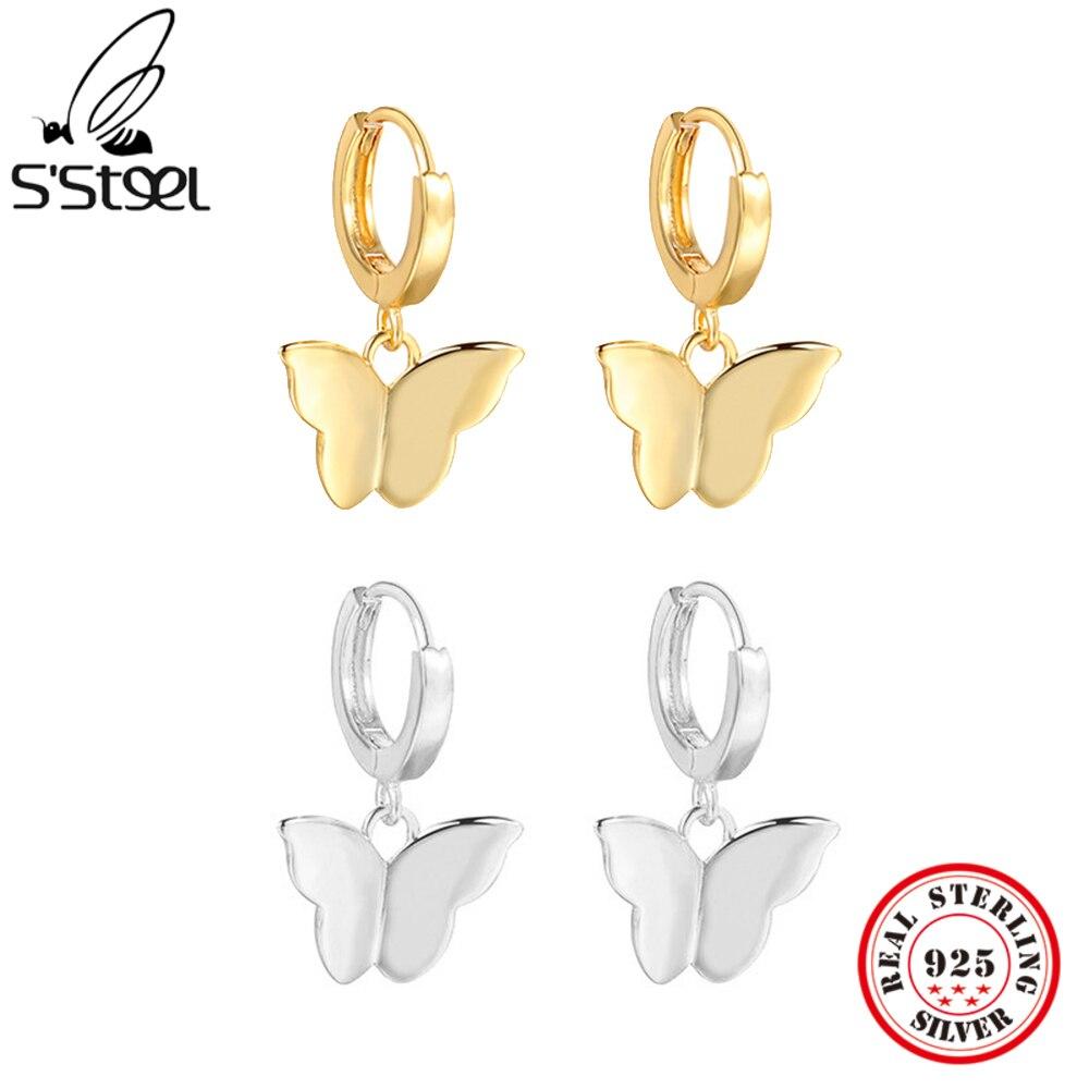 s'steel-Бабочка-Мода-темперамент-роскошные-золотые-925-Серебро-Висячие-серьги-высокое-качество-прекрасный-подарок-для-женские-модные-туфли-в-л