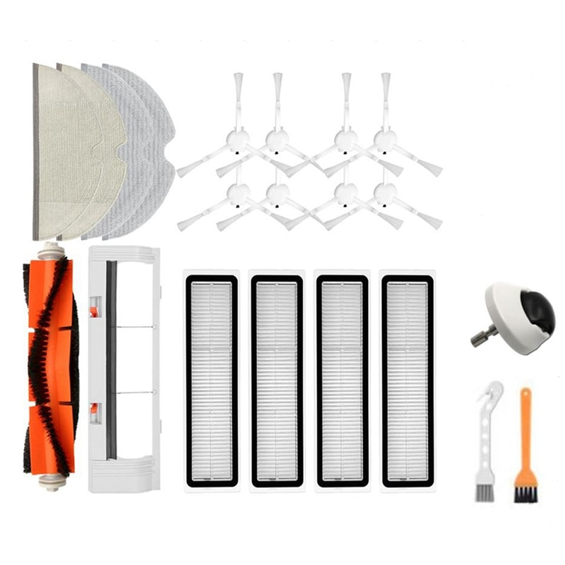 ل Dreame D9 جهاز آلي لتنظيف الأتربة استبدال الملحقات الرئيسية غطاء فرشاة الجانب فرش HEPA تصفية ممسحة عجلة القماش