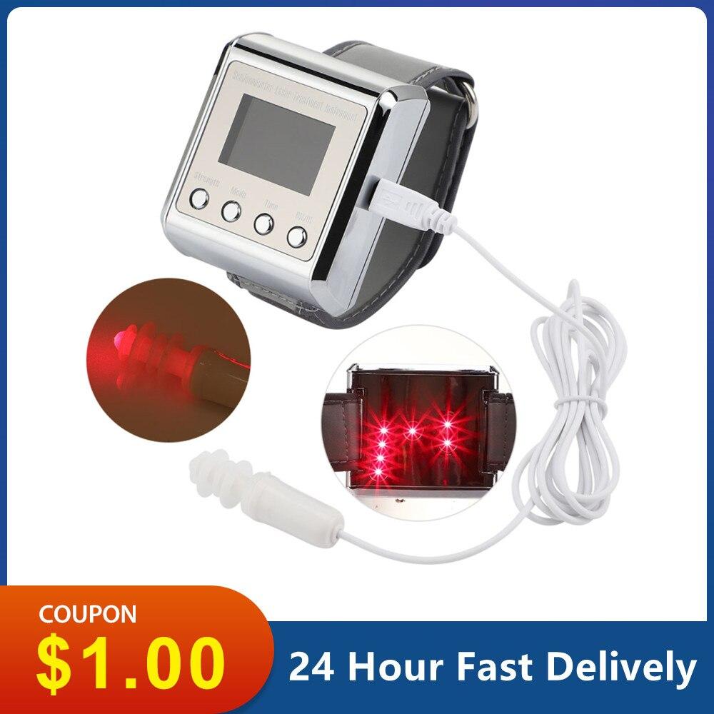 650nm الليزر العلاج الطبيعي المعصم ديود LLLT لعلاج السكري بالليزر ساعة معصم السكري لعلاج ارتفاع ضغط الدم