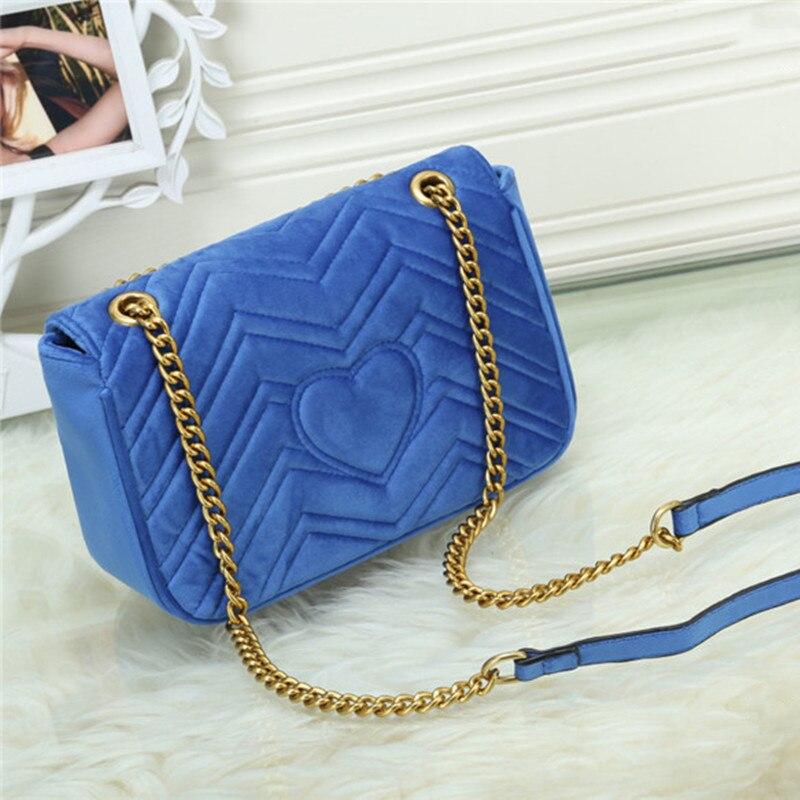 حقائب يد نسائية فاخرة العلامة التجارية المخملية مصمم حقيبة كتف السيدات حقيبة ساعي
