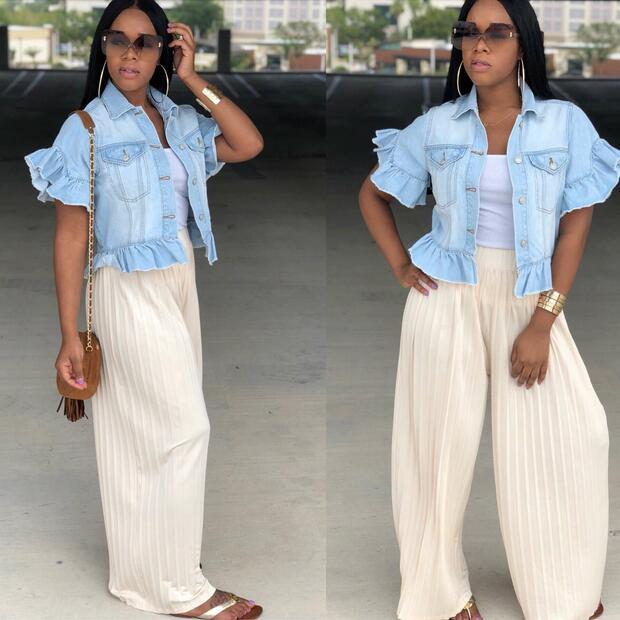 2020 novo estilo da marca de moda estilo casual mulheres denim jaqueta turn-down colarinho manga borboleta bodycon outwear dw424